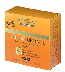 Loreal Sublime Self Tanning Towelettes Review